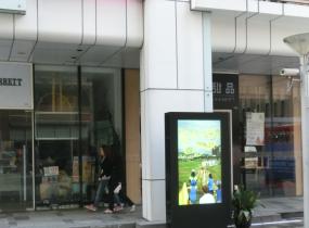 湖南长沙广场商业街户外广告机