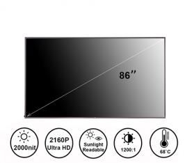 86寸2000亮度高亮液晶屏