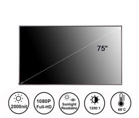 75寸2000亮度高亮液晶屏